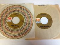 Lot of 2 Jimmie Rodgers 45's - Today/The Lovers & Turnaround/Child Of Clay