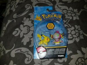 Pokemon Set 2 Figure Pack PIKACHU vs HOOPA CONFINED T18865 Tomy New