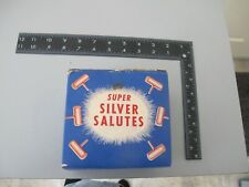 Old Fireworks Firecracker Rare Tri State Super Silver Salutes Complete Box + 72