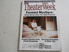 Julie Taymor, Gregory Harrison, Wendy Wasserstein - Theater Week Magazine 1988