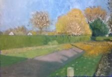 Terry George painting of Heigham Park Norwich, sunny autumn morning