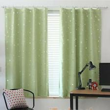 Star Thermal Grommet Blackout Window Room Curtain Panel Drapes Kids Room Curtain