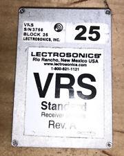 Lectrosonics VRS Receiver - Block 25 MHz  FREE SHIPPING!!