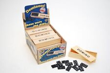 WOODEN TOYS DOMINOES IN WOODEN SLIDE BOX FUN BOARD FAMILY TRAVEL GAME
