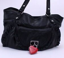 Betsey Johnson NEW Locking Lips Tote Shoulder Bag Black