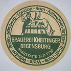 alter Bierdeckel Brauerei KNEITINGER, Regensburg 🍺 K-42