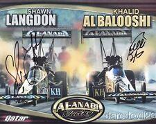 2012 Al-Anabi Racing signed Top Fuel NHRA postcard Langdon alBalooshi