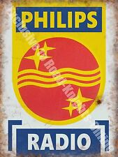 Philips Radio, 146 Electronics Retro Vintage Advertising,Small Metal Tin Sign