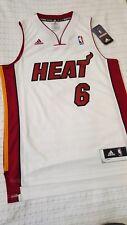 AUTHENTIC LEBRON JAMES MIAMI HEAT JERSEY NBA SMALL ADIDAS WHITE MVP ADIDAS