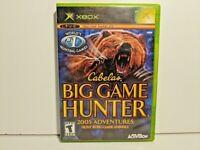 Cabela's Big Game Hunter 2005 Adventure Original Xbox Game - Complete w/ Manual