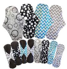 2x, 4x Bamboo Cloth Menstrual Pads Pantiliner Sanitary Napkins Washable 25cm