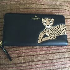 "NWT KATE SPADE New York ""Leopard Applique Lacey"" Run Wild Wallet"