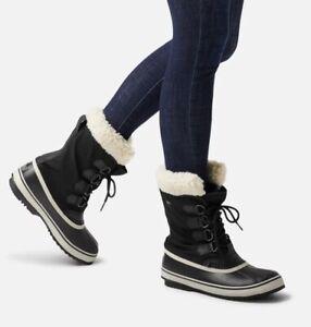 Sorel Black Winter Carnival Waterproof Snow Boots  Size UK 6