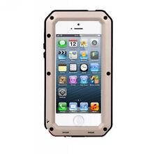 Gorilla Glass Metal Cover Case iPhone 6S Plus 4 4S 5 5S 5C Waterproof Shockproof