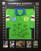 Blazed In Glory - 1994 Canberra Raiders Premiers - NRL Signed & Framed Jersey