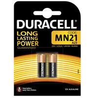 GENUINE 2 X DURACELL MN21 A23 12V ALKALINE BATTERY 23A K23A E23A V23GA 12 VOLT