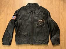 Guess Vintage Leather Jacket USA Legend Size XL