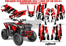 AMR RACING DEKOR GRAPHIC KIT ATV POLARIS SCRAMBLER/TRAILBLAZER ATTACK B
