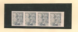 Spanien / Mi.-Nr. 849 UP (4) Rd / 50 C. General Franco grau a. rosa Kartonpapier