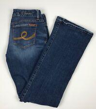 Seven7 Boot Cut Dark Distressed 5 Pocket Denim Blue Jeans Women's 29 29x32