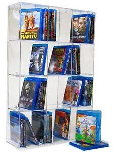 SORA Blu-ray Modulregal mit transparenter Rückwand für bis zu 128 Blu-ray-Cases