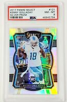 2017 Select SILVER REFRACTOR Prizm Lions KENNY GOLLADAY Rookie Card PSA 8 Pop 3