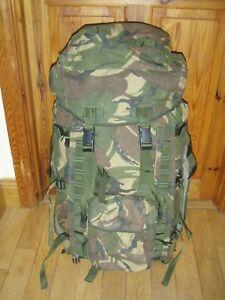 British Army, Rucksack C/W Frame inf long convolted Bk DPM, IRR. Genuine