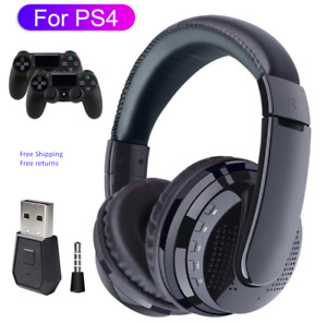 Wireless Headphone Bluetooth Transmitter For PS4 Gaming Headset with Microphone
