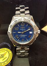 Breitling Colt Automatic A17350 Blue Dial 38mm - Box & Papers 2001 - Serviced!