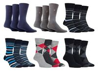 Farah - 3 Pack Mens Breathable Coloured Funky Soft Top Luxury Cotton Dress Socks