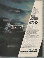 1984 JEEP CHEROKEE advertisement, Canadian Cherokee ad