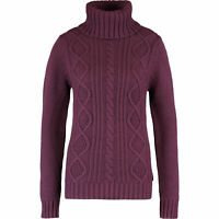 MUSTO Women's Burgundy Roll Neck Jumper Size UK 10, 12 & 14