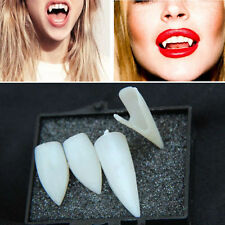 Fancy Dress Vampire Teeth Denture Fangs Bites Costume Party Halloween Props KF