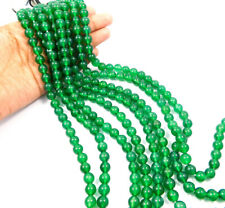 AAA Quality 100% Natural Gemstone Green Onyx  8mm Round Beads 15 Inch 1 Strand