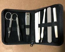 Vintage Travel Size Manicure Set in Zipper Case 8 tool Unused?