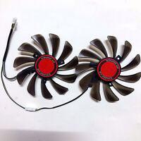 Graphics Card Dual Fan 95mm Grafikkarten Kühler Lüfter für XFX RX580 584 588