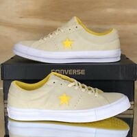 Converse One Star Pro Ox Yellow White Suede Skating Shoes 159814C Multi Size