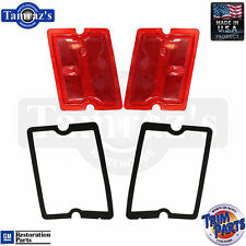 73-77 El Camino REAR Side Marker Light Lamp Lens GM Tooling w/ GASKETS USA PAIR