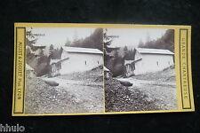 STB582 La Grande Chartreuse Isere Chapelle Cazalibus photo STEREO albumen