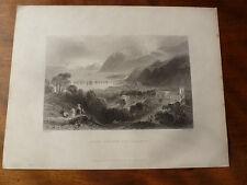 1841 Port Penryn und Bangor Wales Original Gravur