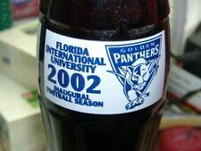 2002 Florida University Panthers Coca-Cola Coke Bottle