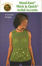 Quick Artful Designs Purse, Scarves, Shell Wool-Ease Crochet Pattern Booklet NEW