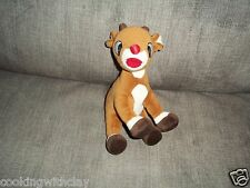 PLUSH DOLL FIGURE RUDOLPH STUFFED CHRISTMAS TOY REINDEER 2005 BEANBAG