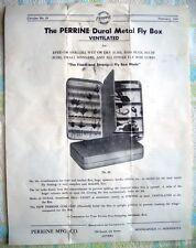 Vintage (1947) Original Advertising Slick - Perrine Dural Metal Fly Boxes - NICE