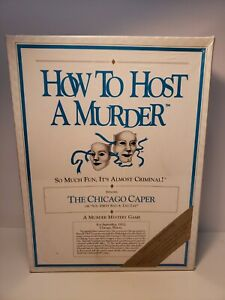 How to Host a Murder The Chicago Caper Board Game New Vintage 1986