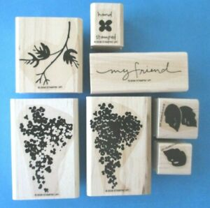 Stampin Up BLOSSOMS ABOUND Rubber Stamp Set FLOWERS 2 Step Stamping LILACS 2008