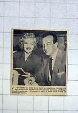 1951 Betty Grable & Bandleader Husband Harry James, At Hollywood Racecourse