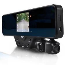 Pyle PLCMDVR52 Mirror Dash Cam 2 Camera DVR Recording System, Full HD 1080P