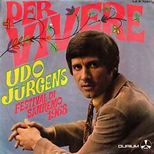 Udo Jurgens-Per Vivere/Ridendo Vai(Mogol) 45 giri Festival di Sanremo 1969 EX