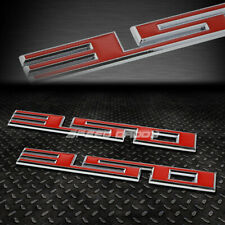 2X METAL BUMPER TRUNK GRILL EMBLEM DECAL STICKER BADGE CHROME/RED SBC 350 5.7